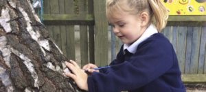 Tree painting with our Early Years