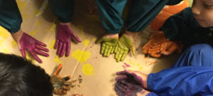 Large scale painting with EYFS