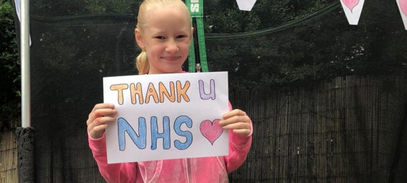 Amelia jumps to raise money for NHS